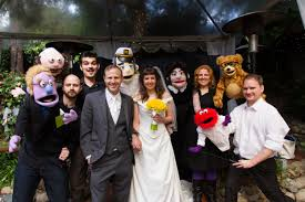 how to officiate a wedding this creative and groom had a bunch of puppets officiate