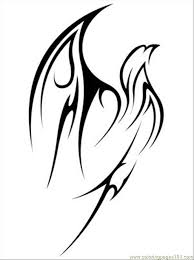 coloring pages tattoos brood parasite flying tribal eagle tattoo hooded pitohui bird