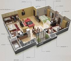 3 Bhk Home Design by 5 Room House Plan Pdf Bedroom Plans Drawing Single Story Simple