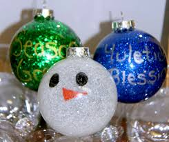 crafts for glitter ornaments