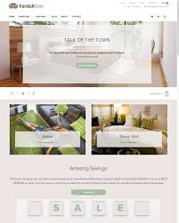 furniture interior design ecommerce website templates free and