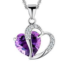 purple heart necklace images Pearl of dream a heart full of love purple sterling jpg