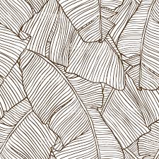 vector illustration leaves of palm tree seamless pattern stock