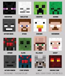 having a minecraft party download the printables jpgs pdfs at