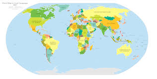 clear world map with country names world map in local languages