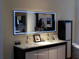 bathroom mirror with led lights country kitchen backsplash picture
