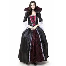 gothic vampire halloween costumes for woman fancy dresses carnival