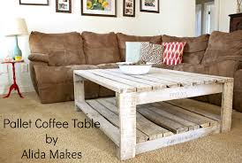 How To Make A Wooden End Table by Pallet Coffe Table With White Wash Paint Instructions