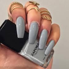n i c o l e l e c h e r grey matte ecstasy models nails