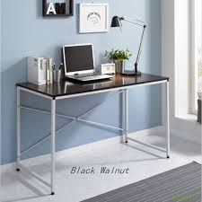 wood and metal writing desk 1 piece computer desk office table writing simple wood metal laptop
