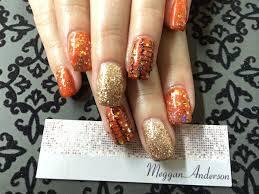 day 295 orange black u0026 gold nail art nails magazine