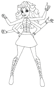 monster high coloring pages frights camera action wydowna spider coloring sheet png 1008 1600 2 color monster