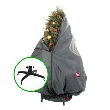 treekeeper pro storage bag w stand for decorated tree