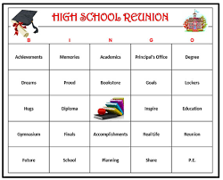 high reunion bingo game red 60 cards get old friends