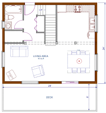 open floor house plans with loft floor plan cottage 672 sqft footprint b 1200 sqft living space