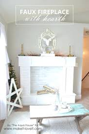 faux fireplace mantel with candles logs bricks fake faux fireplace