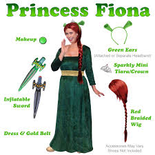Cheap Size Halloween Costumes 3x Sale Size Princess Fiona Costume Shrek Size