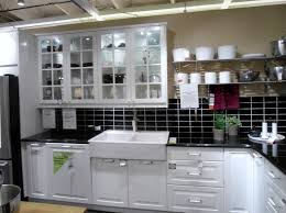 home design white kitchen cabinet with tile backsplash and ikea