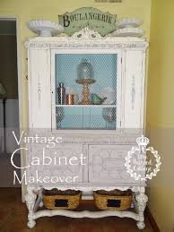 Vintage China Cabinets Vintage China Cabinet Makeover At The Painted Cottage