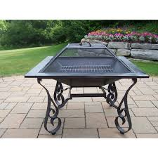 Terra Cotta Fire Pit Home Depot by 20 In Clay Fire Pit With Iron Stand Scroll Fp Scroll The