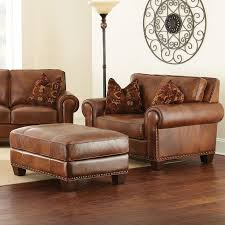 Leather Chair And Half Design Ideas Silverado Chair And A Half With Ottoman By Steve Silver Wish