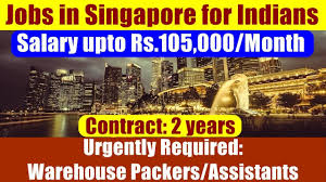 Resume For Warehouse Packer Jobs In Singapore For Indians Job Opening Warehouse Packers