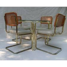 Cesca Armchair Marcel Breuer Cesca Chairs And Glass Top Dining Table Home