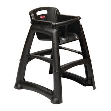 rubbermaid sturdy black high chair gg477 buy online at nisbets
