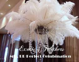 Feather Vase Centerpieces by 100 Pcs White Tail Ostrich Feathers 13 16wedding Table