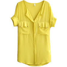 yellow blouse yellow chiffon blouse with front pockets polyvore