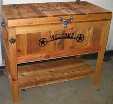custom rustic ice chest coolers design ideas and decor