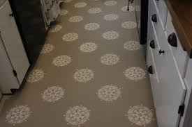 Laminate Flooring Over Linoleum A Warm Conversation Work With What You Got Painted Kitchen Floors
