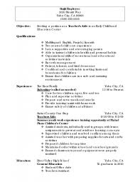 Resume Objective General Statement Day Care Responsibilities Resume Resume For Your Job Application