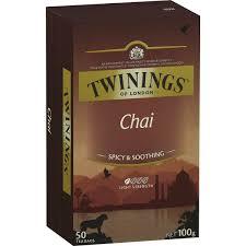 twinings chai tea bags 50pk 100g woolworths