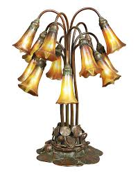Quoizel Glenhaven Table Lamp Tiffany Studios 12 Light Lily Table Lamp Doyle Lot 512 Lamps
