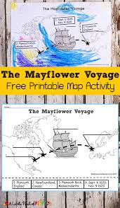 the mayflower voyage free printable map activity