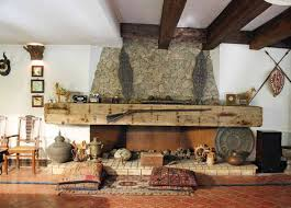 rustic stone fireplaces rustic fireplaces this rustic stone fireplace has a h