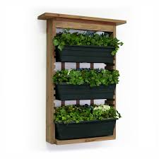 minimalist three tier indoor wall garden planters design with