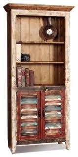 Shutter Door Cabinet La Boca Shutter Door Bookcase Beach Style China Cabinets And
