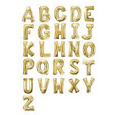 letter balloons 40in festive foil helium alphabet balloons gold efavormart