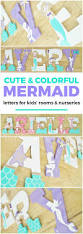 Mermaid Decorations For Home Coral And Mint Mermaid Themed Personalized Wooden Letters For