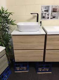 Timber Bathroom Vanity Bogetta 600mm White Oak Timber Wood Grain Bathroom Vanity With