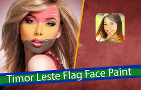 Flag Face Timor Leste Flag Face Paint Picsart Photo Studio Android Apps On
