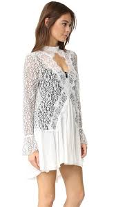 free people new tell tale lace tunic dress shopbop
