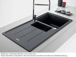 Franke Basis BFG  Kitchen Sink Onyx Fragranite Granite Black - Kitchen sink franke