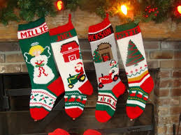 Knitted Christmas Stocking Tree Decorations by Hand Knit Christmas Stockings Mama Jean U0027s Christmas Stockings