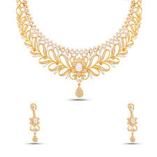 pattern gold necklace images Floral pattern ad short necklace set madnks185 maalyaa jpg