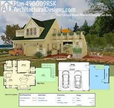 plan 490009rsk tiny carriage house plan with upstairs sun deck