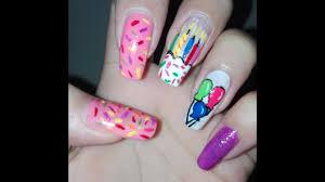 birthday nails tutorial easy diy nail art design long nails art