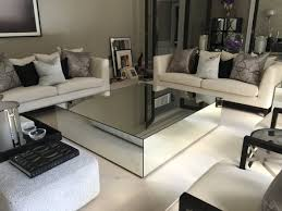 Mirror Living Room Tables Mirrored Coffee Tables Klarity Glass 2017 Also Mirror Living Room